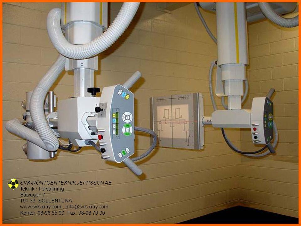 Vi skräddarsyr röntgenlösningar enligt Ert önskemål SVK-RÖNTGENTEKNIK JEPPSSON AB Teknik / Försäljning Båtvägen 7, 191 33 SOLLENTUNA, www.svk-xray.com, info@svk-xray.com Kontor: 08-96 85 00, Fax: 08-96 70 00