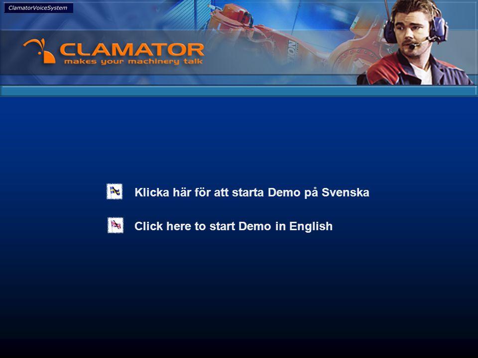 Click here to start Demo in English Klicka här för att starta Demo på Svenska It's all about efficiency