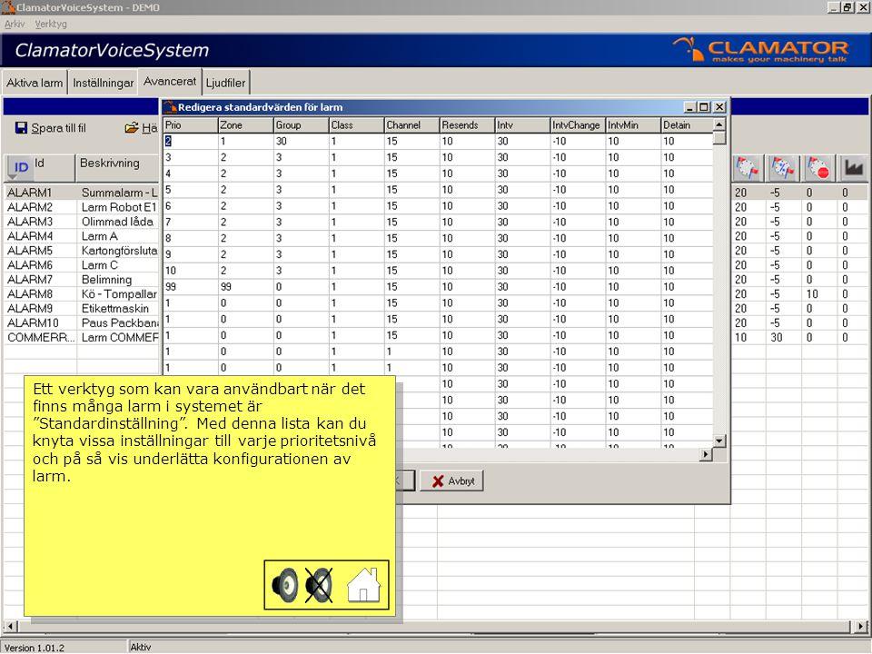 För att förhindra att obehöriga ändrar på inställningar i systemet går det att tilldela ett användarkonto till varje operatör.