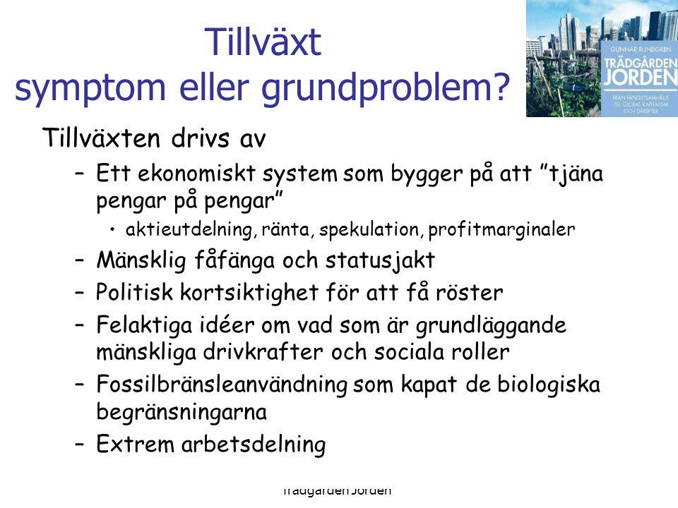 Gunnar Rundgren Trädgården Jorden Tillväxt symptom eller grundproblem.