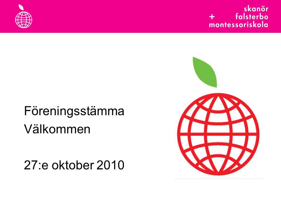 Föreningsstämma Välkommen 27:e oktober 2010