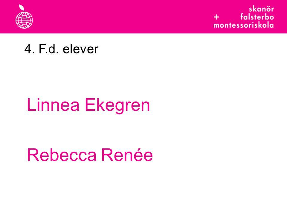 4. F.d. elever Linnea Ekegren Rebecca Renée