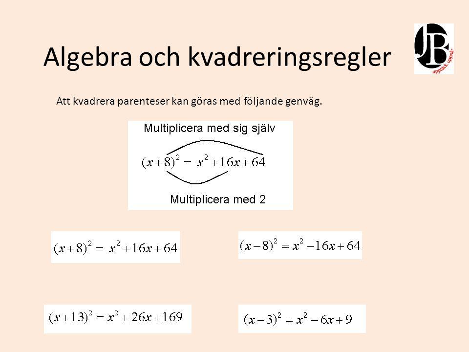 Kvadratkomplettering som metod för att lösa andragradsekvationer