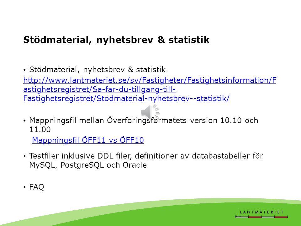 Vilka objekt förändras i ÖFF11.00 till följd av att produkten ÖFF online avvecklas (externt) TabellFörändring 40BTabellen tas bort (Taxeringsenhetsupp
