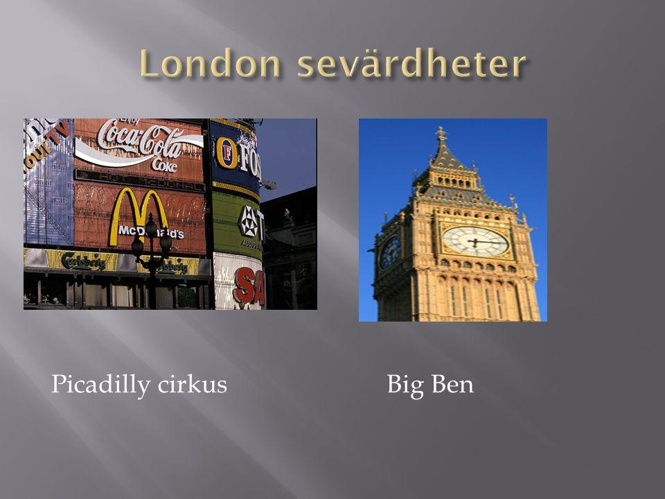 Picadilly cirkus Big Ben