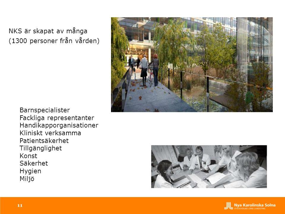 11 NKS är skapat av många (1300 personer från vården) Barnspecialister Fackliga representanter Handikapporganisationer Kliniskt verksamma Patientsäker