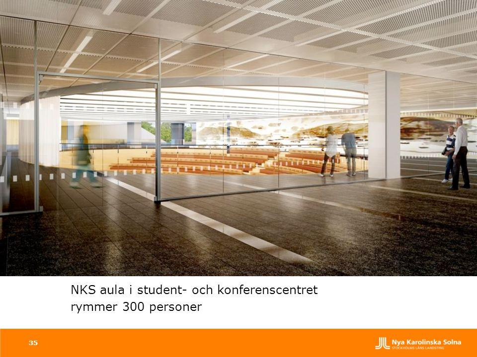 35 NKS aula i student- och konferenscentret rymmer 300 personer