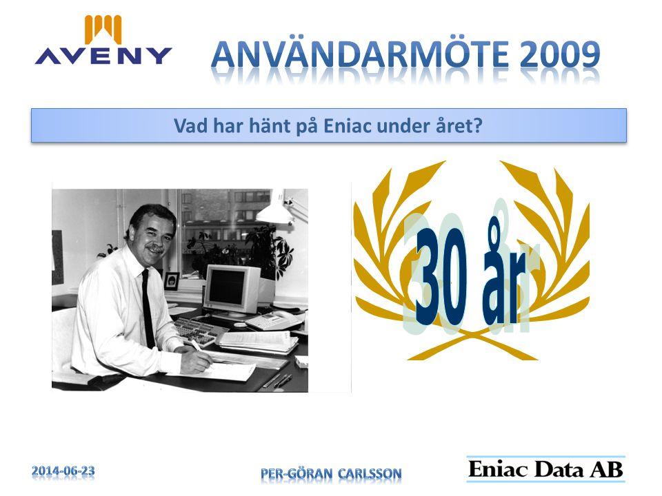 Vad har hänt på Eniac under året?