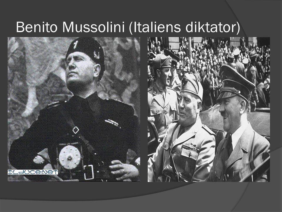 Benito Mussolini (Italiens diktator)
