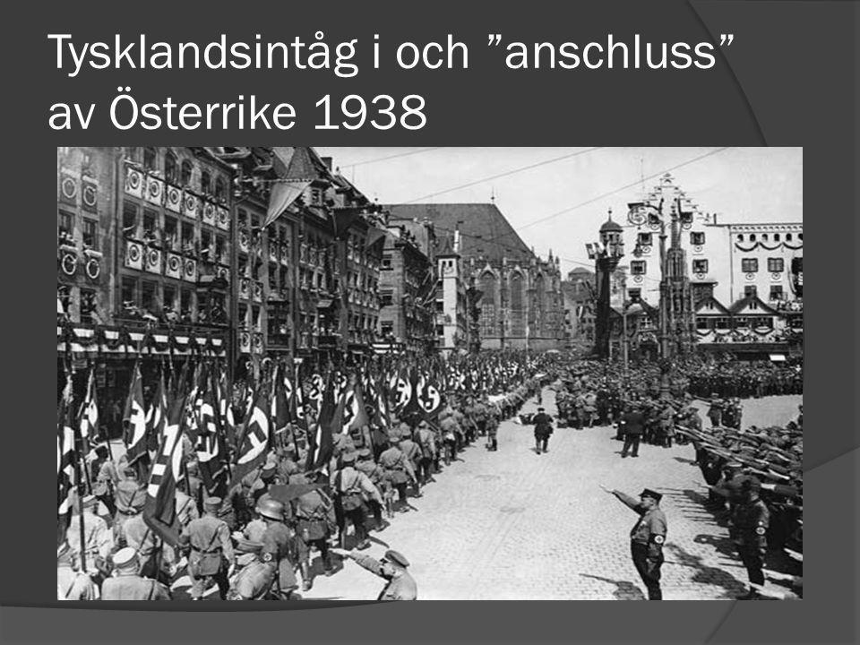Tysklandsintåg i och anschluss av Österrike 1938