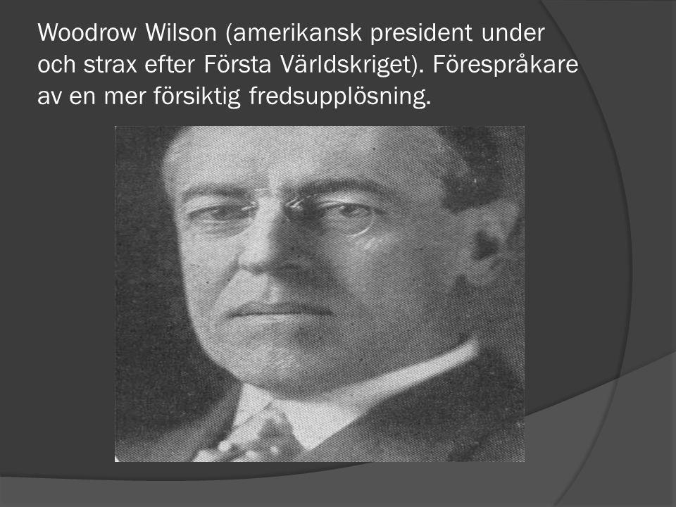 Woodrow Wilson (amerikansk president under och strax efter Första Världskriget).