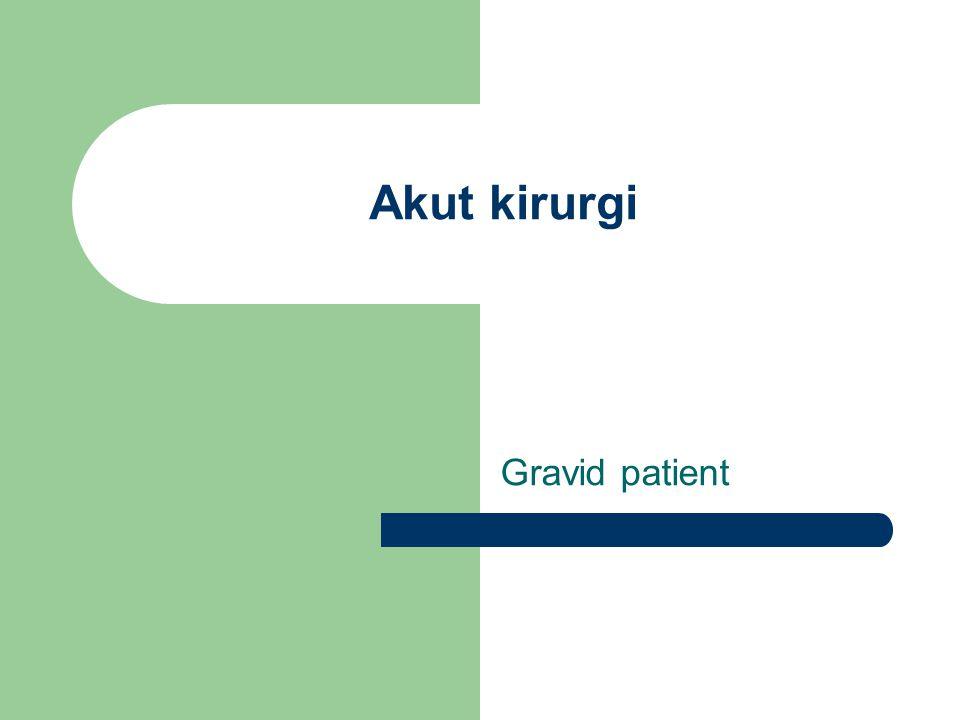 Akut kirurgi Gravid patient