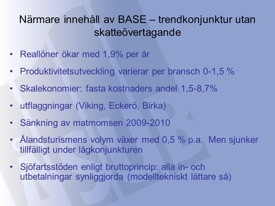 Simuleringsresultatens fördelningseffekter (forts.) Indikerade välfärdseffekter vid skatteövertagande och förändrad skattestruktur (trendscenariot)