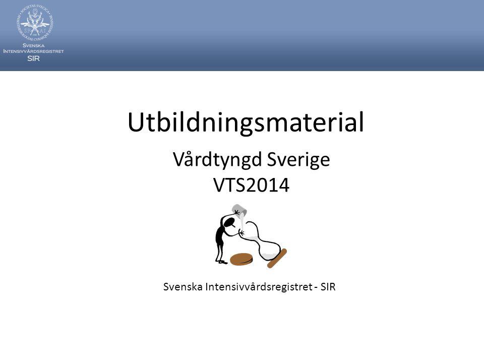 Utbildningsmaterial Vårdtyngd Sverige VTS2014 Svenska Intensivvårdsregistret - SIR