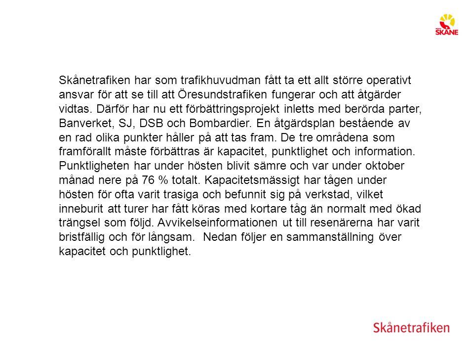 Skånetrafiken har som trafikhuvudman fått ta ett allt större operativt ansvar för att se till att Öresundstrafiken fungerar och att åtgärder vidtas. D