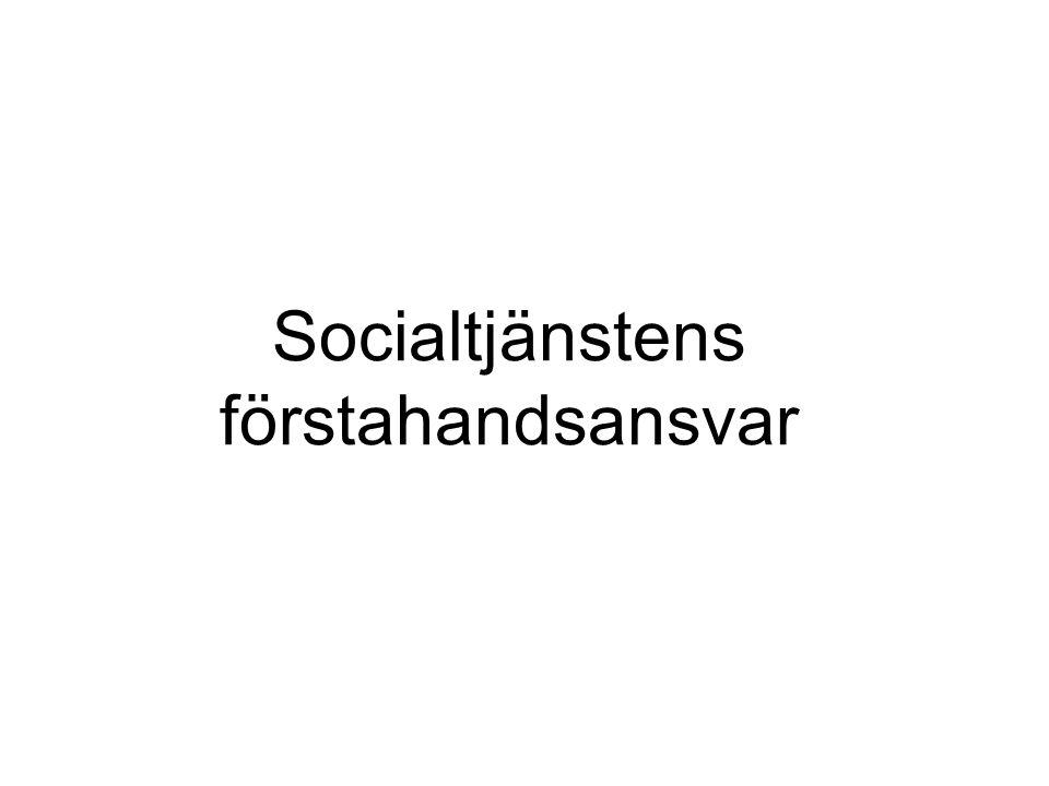 Socialtjänstens förstahandsansvar
