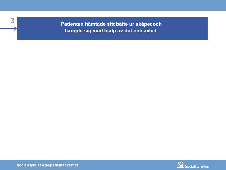 socialstyrelsen.se/patientsakerhet 1 En man med självmordstankar sökte vård vid en psykiatrisk akutmottagning. Mannen bedömdes behöva läggas in med sä