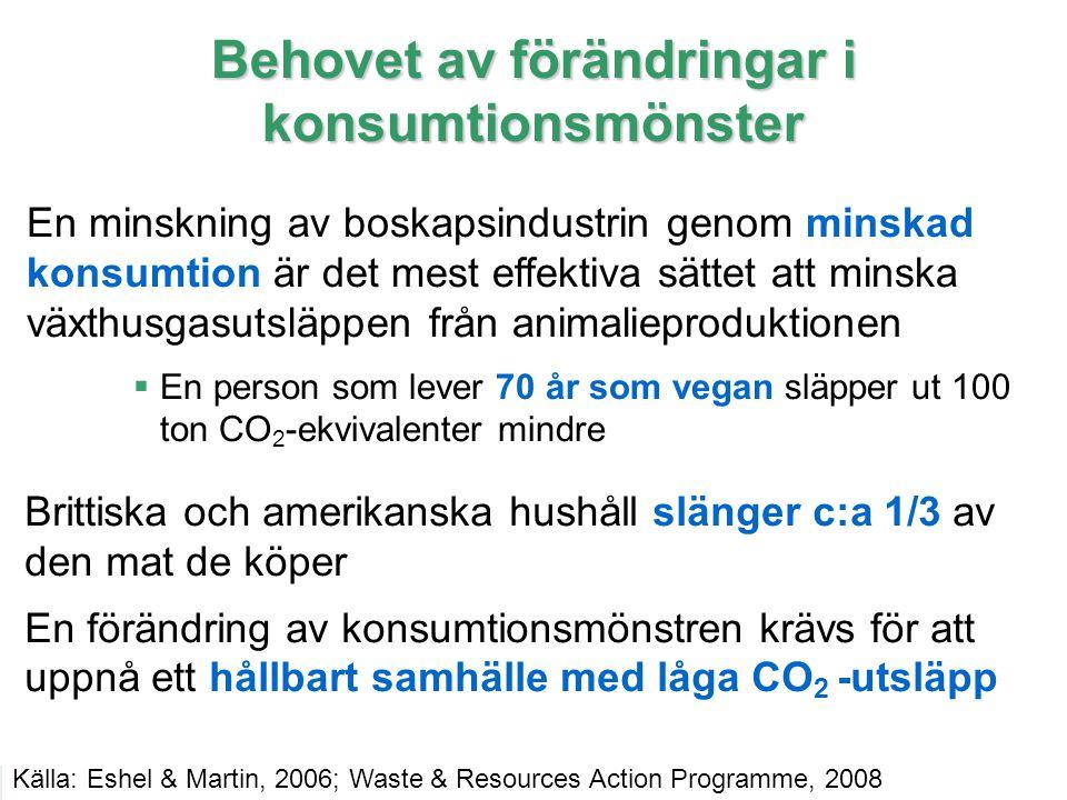 19 IPCC Behovet av förändringar i konsumtionsmönster En minskning av boskapsindustrin genom minskad konsumtion är det mest effektiva sättet att minska