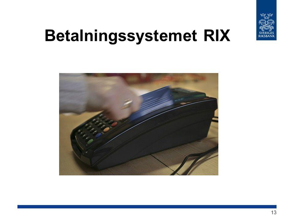 Betalningssystemet RIX 13