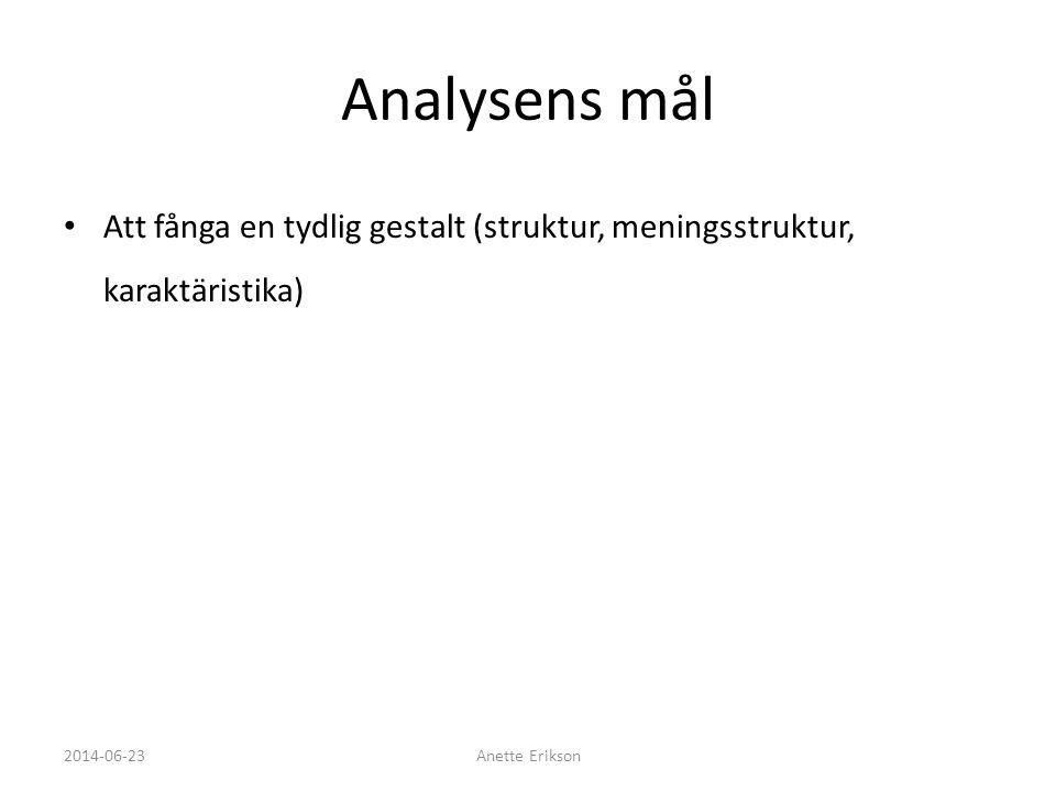 Referens • Lantz, A. (2007). Intervjumetodik, Studentlitteratur, Malmö 2014-06-23Anette Erikson