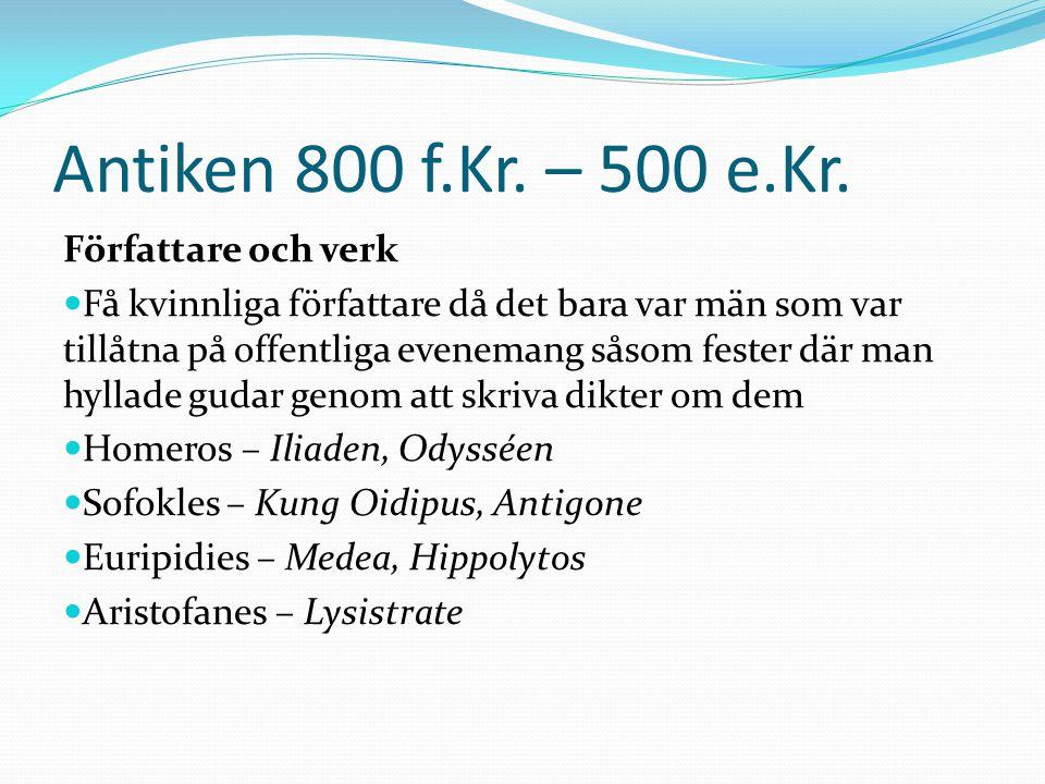 Medeltiden ca 500 – 1450 e.Kr.