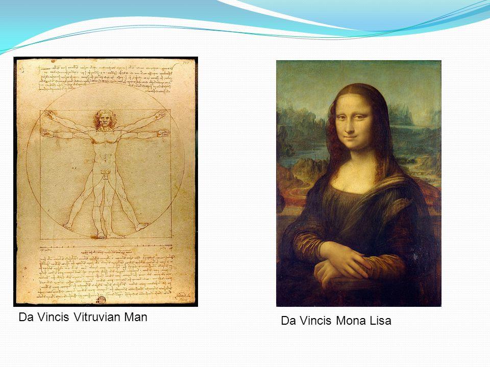 Da Vincis Mona Lisa Da Vincis Vitruvian Man