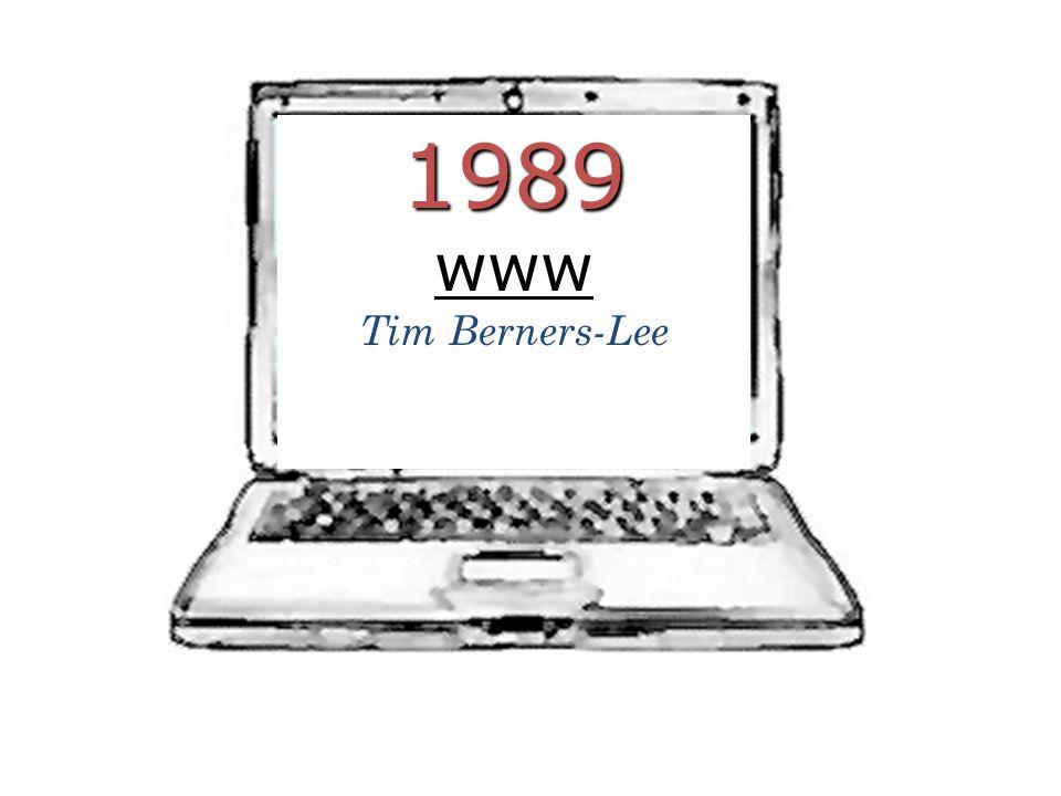 1989www Tim Berners-Lee
