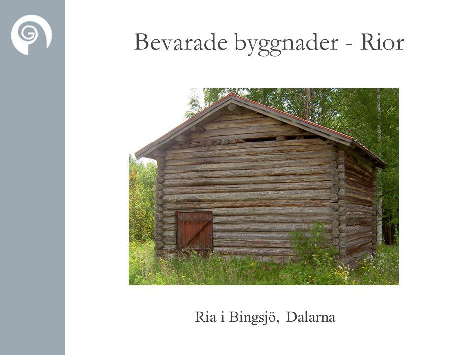 Ria i Bingsjö, Dalarna Bevarade byggnader - Rior