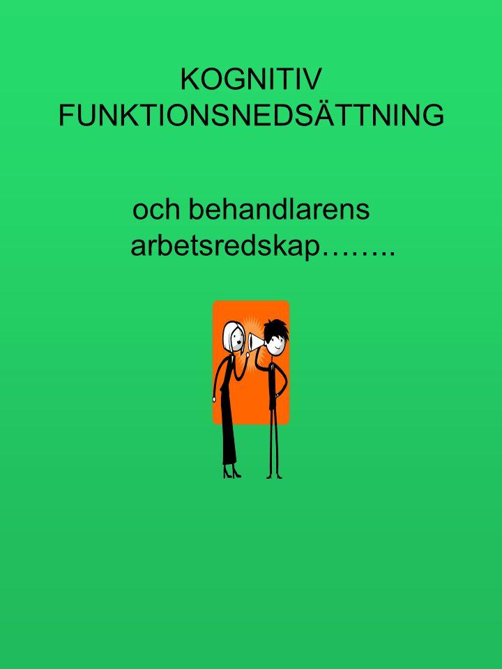 KOGNITIV FUNKTIONSNEDSÄTTNING och behandlarens arbetsredskap……..