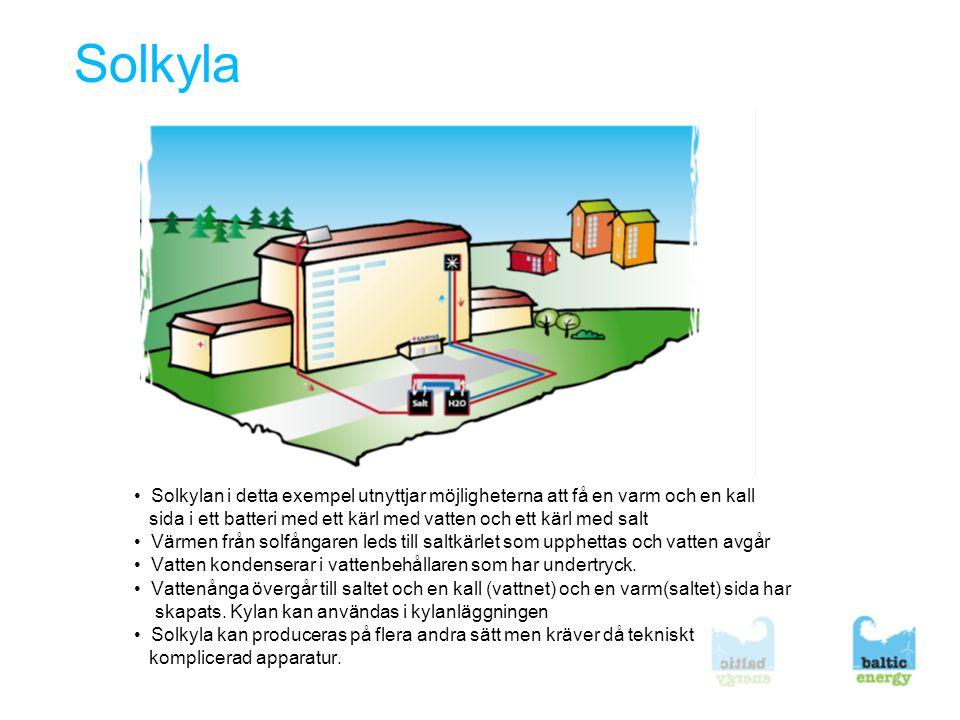 Bergkyla/geokyla Geokyla Två principiellt olika tekniker: 1.Borrhål med sluten slinga som kyler vatten.
