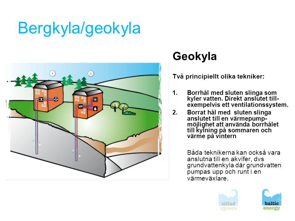 8 Luftkyla, älvkyla •Under vinterhalvåret är den kalla utomhusluften basen i kylanläggningen.