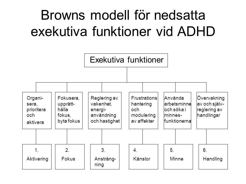 ADHD-symptomens natur •Dimensionella till skillnad från allt eller intet.