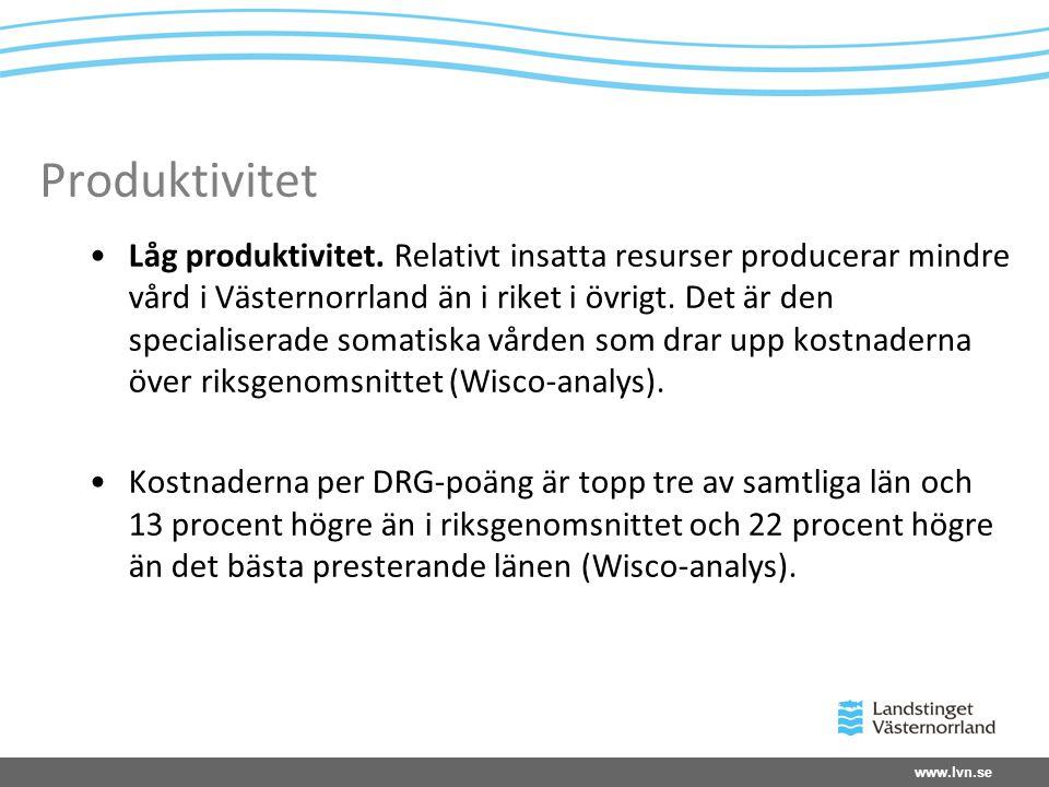 www.lvn.se Produktivitet •Låg produktivitet.