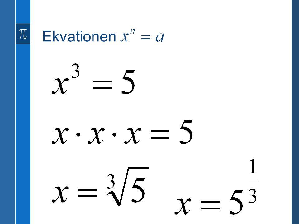 Ekvationen