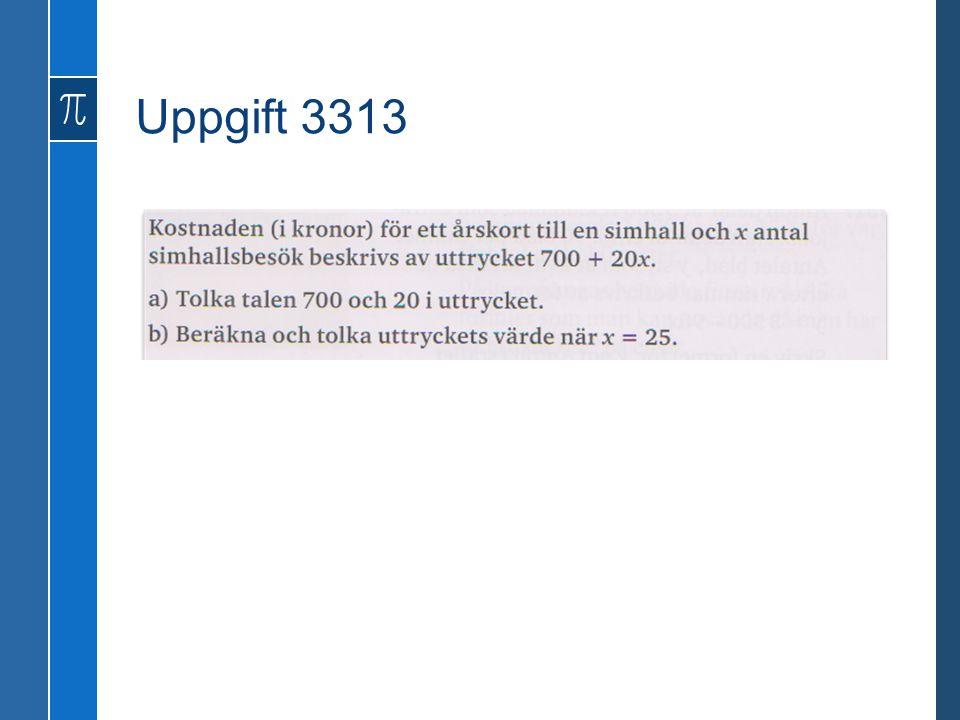 Uppgift 3313