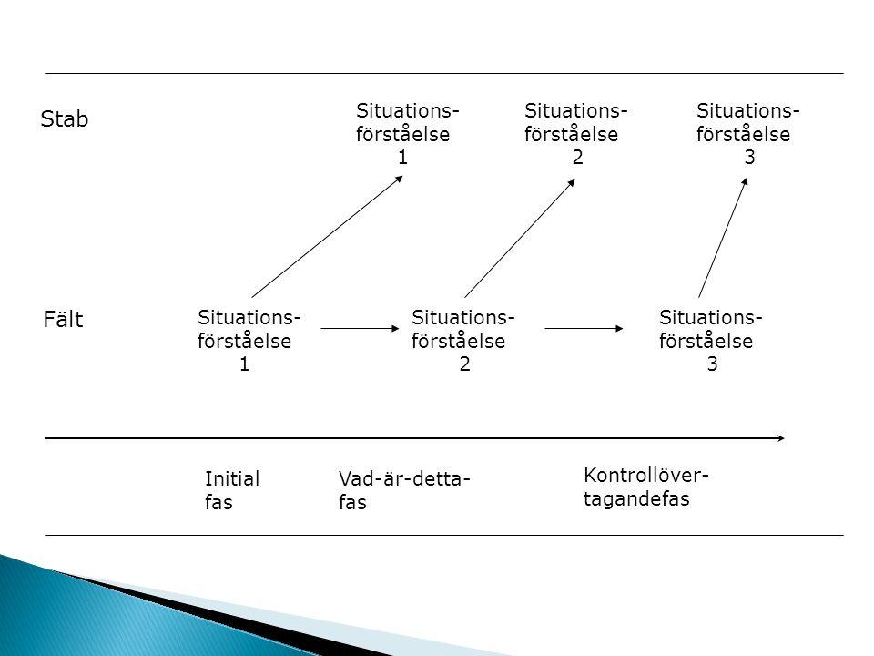 Stab Fält Situations- förståelse 1 Situations- förståelse 2 Situations- förståelse 3 Situations- förståelse 1 Situations- förståelse 2 Situations- för