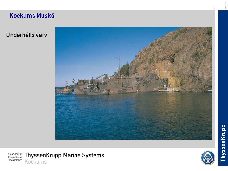 ThyssenKrupp 5 BL051.04 Kockums Muskö Underhålls varv