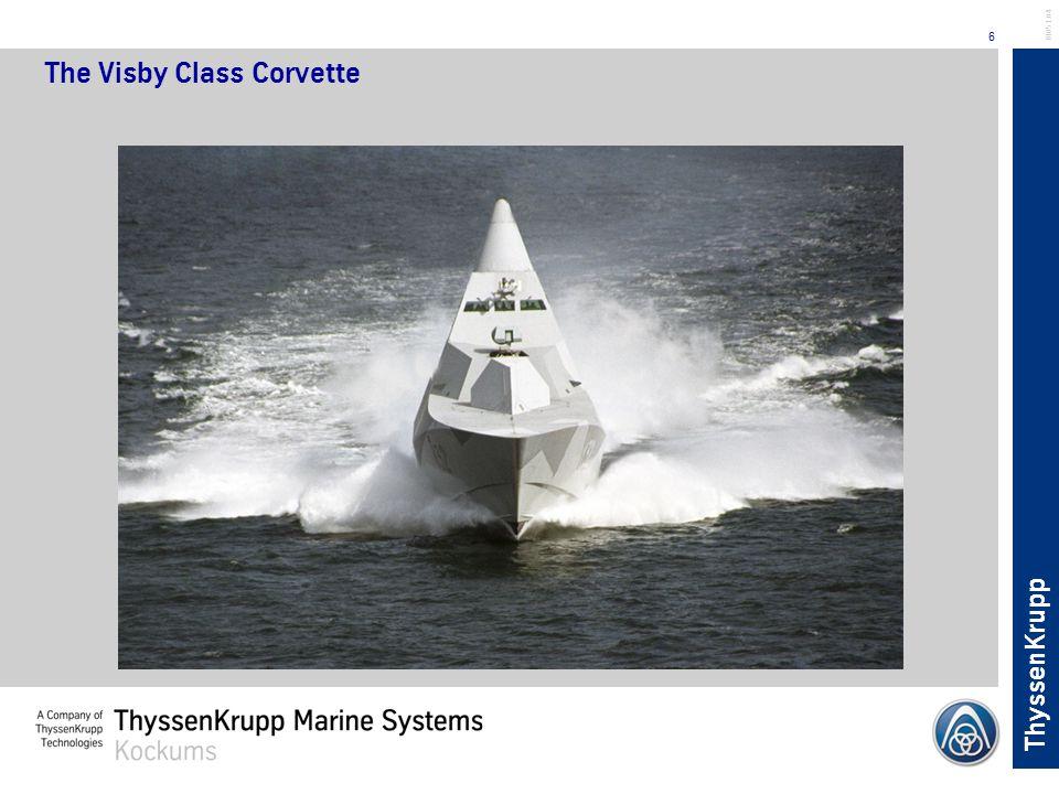 ThyssenKrupp 6 BL051.04 The Visby Class Corvette