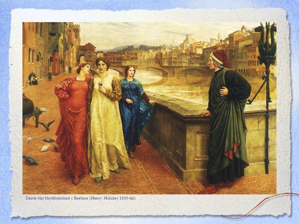 Dante blir blixtförälskad i Beatrice (Henry Holiday 1800-tal)