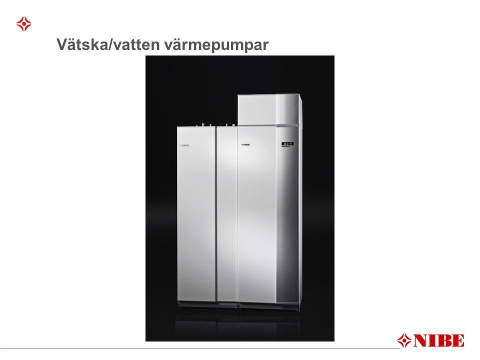 LUFT/VATTEN-VÄRMEPUMPAR Frånluftsvärmepump Installerad i hus