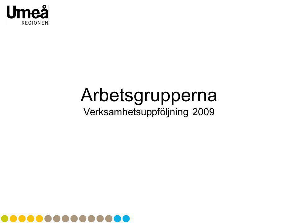 Arbetsgrupperna Verksamhetsuppföljning 2009