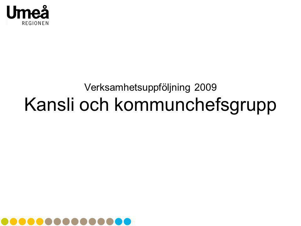 Verksamhetsuppföljning 2009 Kansli och kommunchefsgrupp