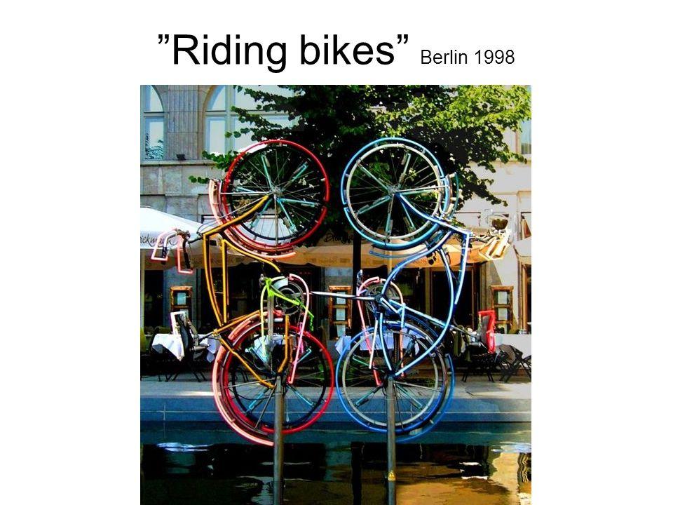 """Riding bikes"" Berlin 1998"