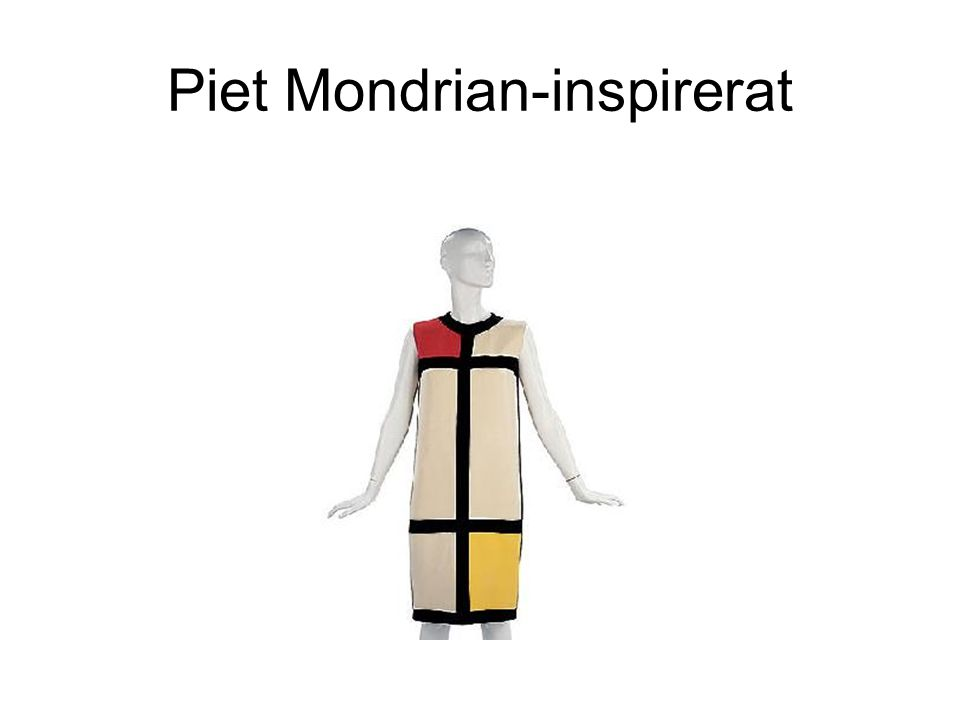 Piet Mondrian-inspirerat