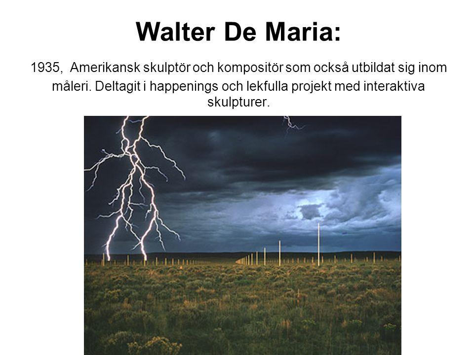 Walter De Maria En teckning som är en mil lång, 1968.