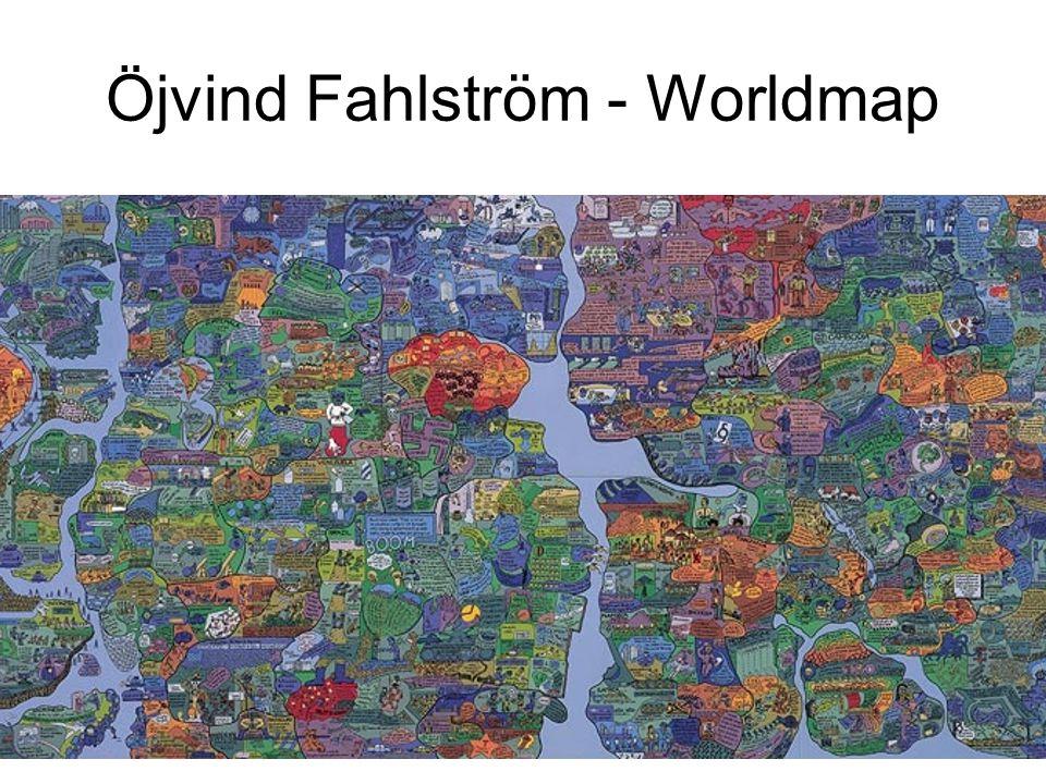 Öjvind Fahlström - Worldmap