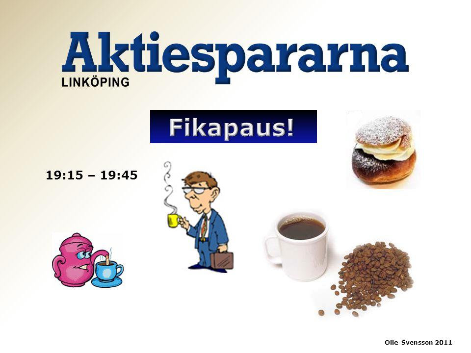19:15 – 19:45 Olle Svensson 2011