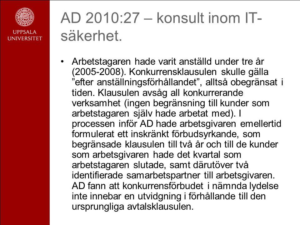 AD 2010:27 – konsult inom IT- säkerhet.