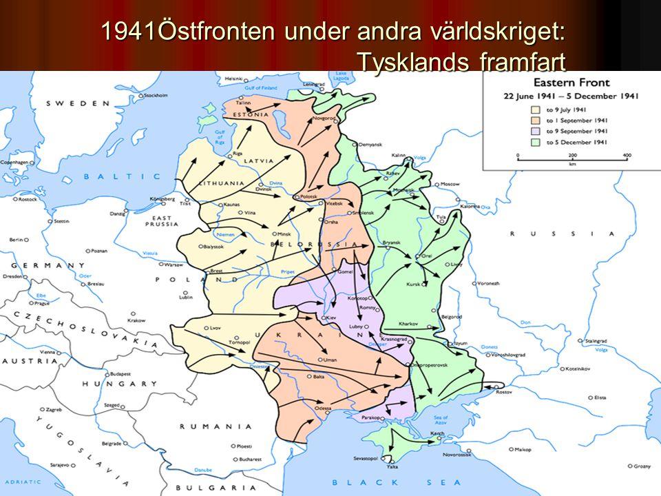 1941Östfronten under andra världskriget: Tysklands framfart
