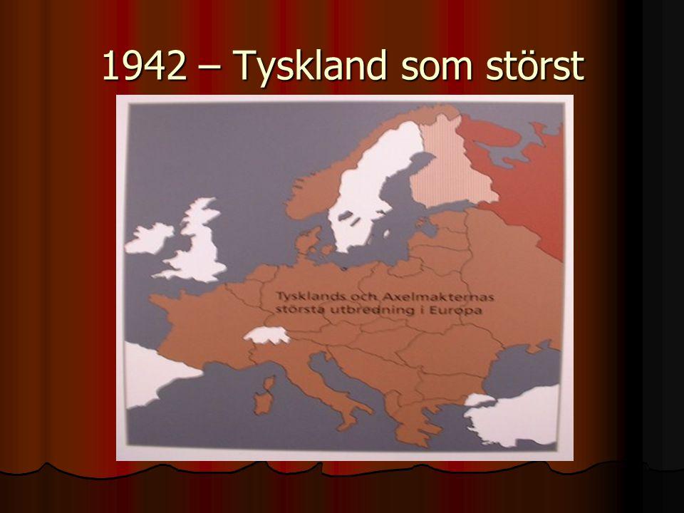 1942 – Tyskland som störst